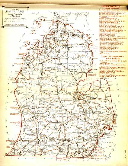 Discuss Detroit Railroad Maps Of Michigan - Map of lower michigan