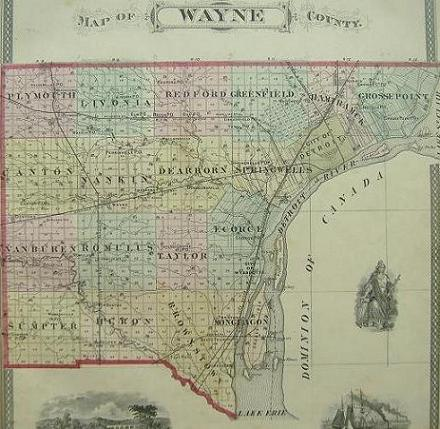 Discuss Detroit Maps of Wayne County from 1876