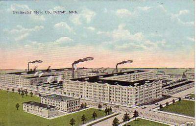 Peninsular Stove Works Postcard, 1900s