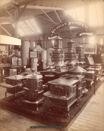 The Michigan Stove Display at the Philadelphia Exposition, 1876