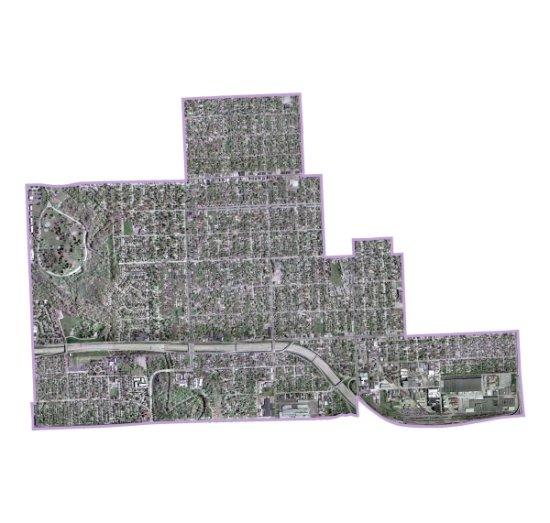 Satellite view of Brightmoor