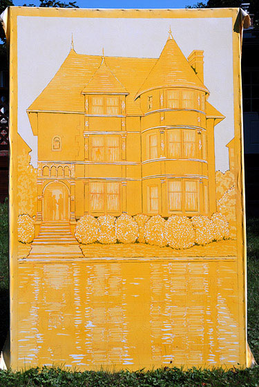 """Open House"" Yellow phase painting by Lowell Boileau"