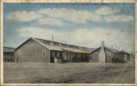 Camp Custer YMCA building, 1918 postcard