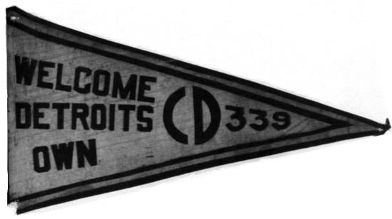 Welcome Home Pennant, Custer Division (CD), 339th Infantry Regiment