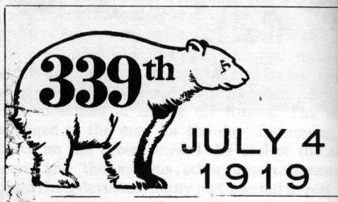 "The white ""Polar Bear"" armband worn by the men of the 339th on July 4, 1919"