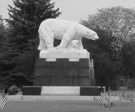 The Polar Bear Monument at White Chapel Cemetery, Troy, MI