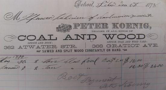Peter Koenig bill of sale