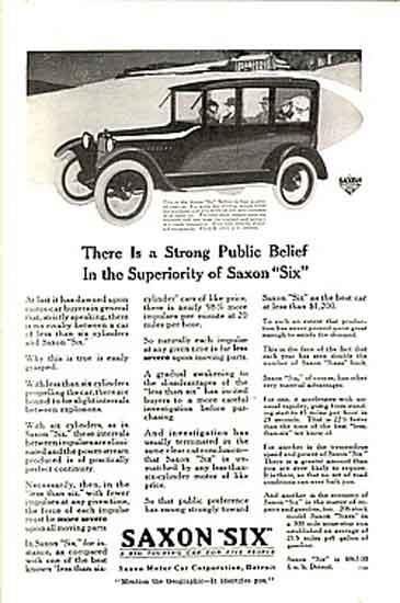 Saxon Motors ad
