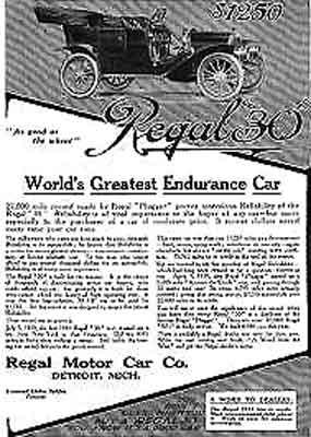 1911 Regal ad