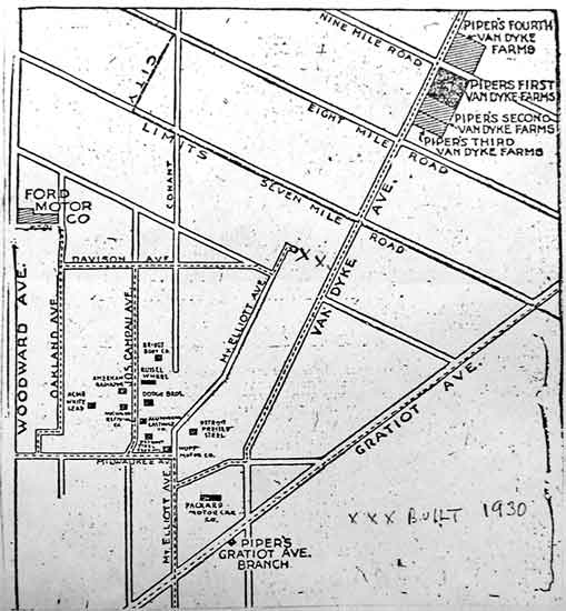 Harper/Centerline streetcar map
