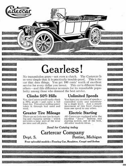 1913 Cartercar Ad