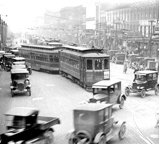Michigan and Cass 1920s