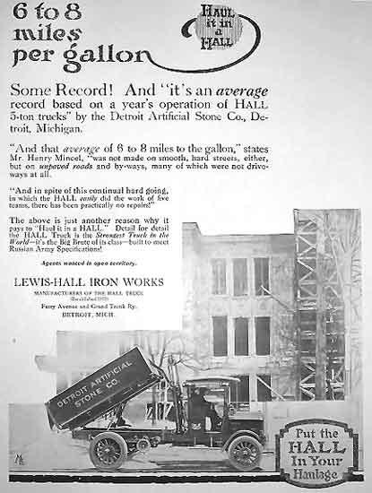 Hall Trucks ad