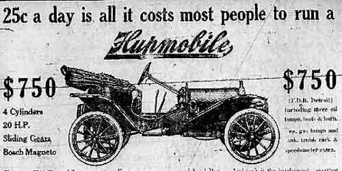 1910 Hupmobile ad