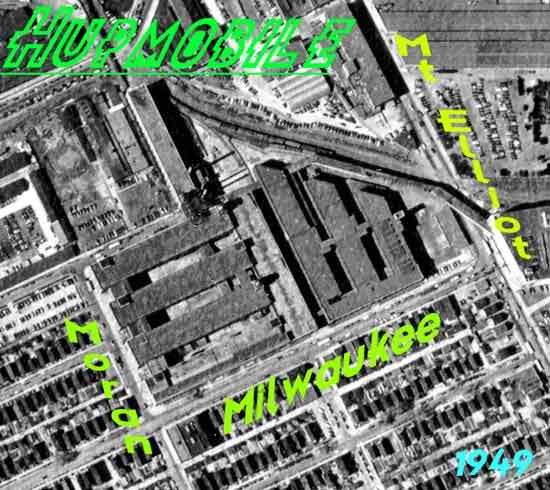 Hupmobile aerial Milwaukee & Mt. Elliot