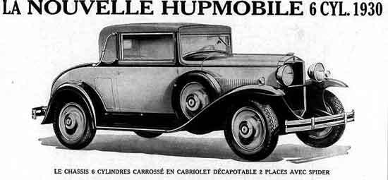 1930 Hupmobile ad, France