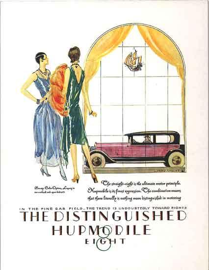 Huppmobile ad 1920s