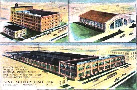 King factory postcard