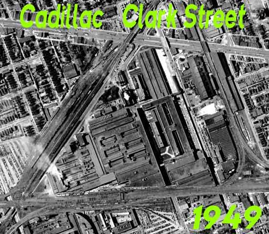 Cadillac Clark St  aerial 1949