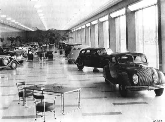 Chrysler-Plymouth factory showroom interior