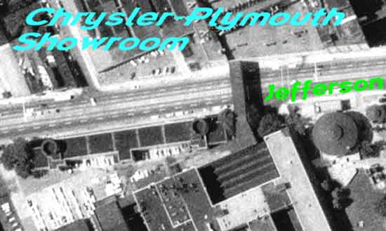Chrysler-Plymouth factory showroom aerial