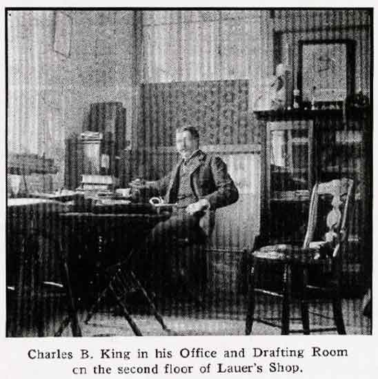 Charles B King in office