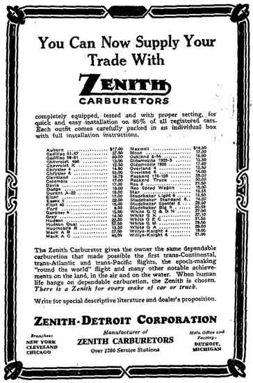 Zenith-Detroit ad 1926