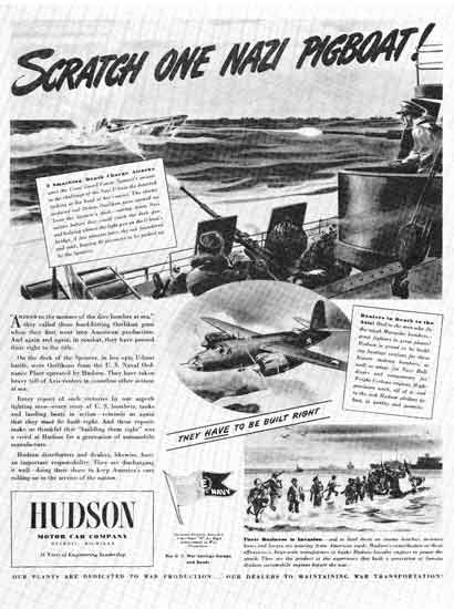 Hudson WWII ad