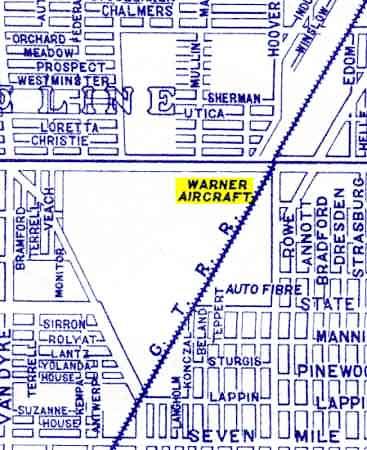 Warner Aircraft map