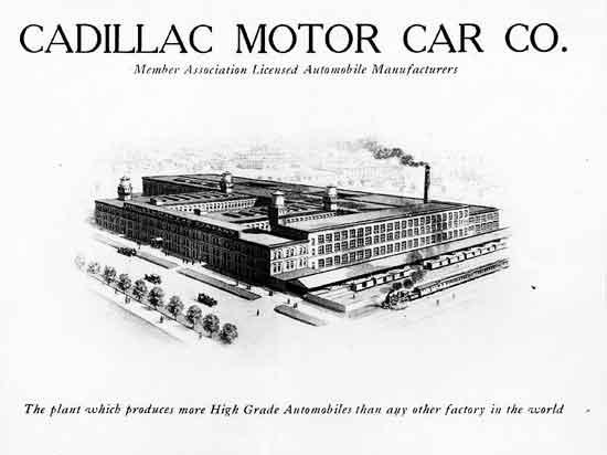 Cadillac factories 1908-1