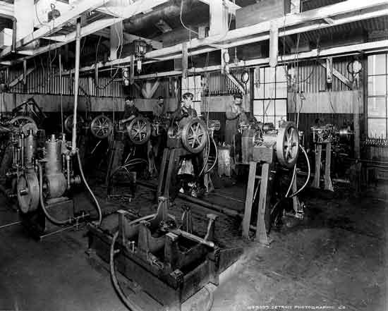 Cadillac factory Leland era machine shop