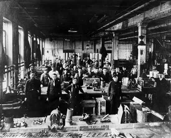 Cadillac factory Leland era Gas tanks