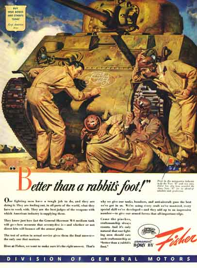 Fisher tank WWII ad