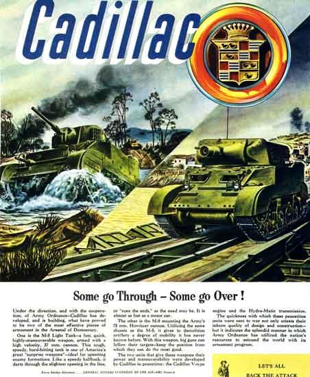 Cadillac WWII tank ad