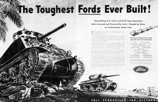 Ford WWII tank ad
