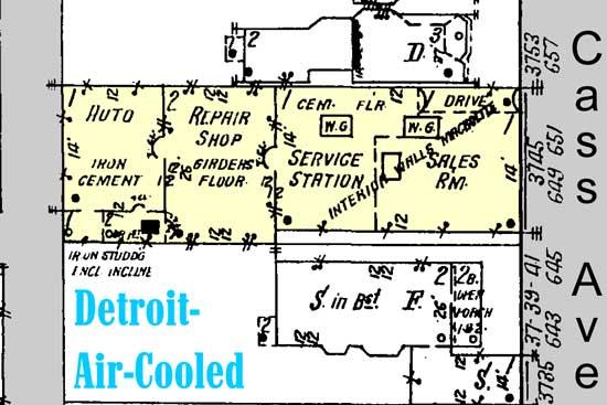 Detroit Air Cooled factory, Cass Ave