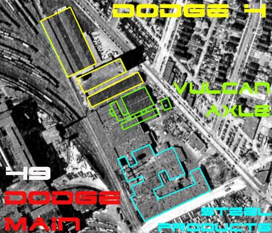 Conant Ave factories aerial 1949