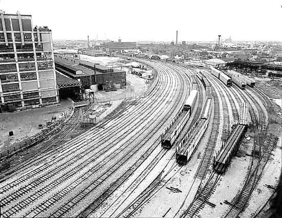 Dodge Main rail yard