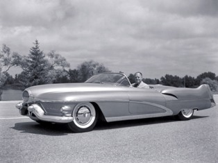 Harley Earl in the concept car named Lesabre