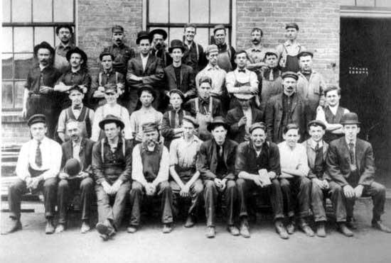 Hudson workforce 1909