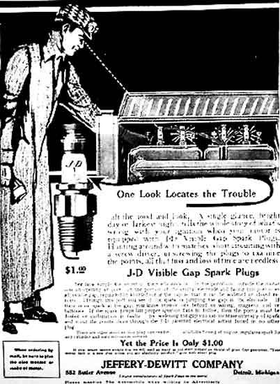 1913 J-D spark plug ad