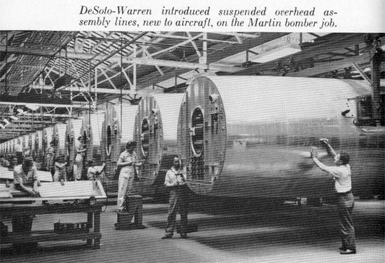 DeSoto Warren Ave B-26 fuselages