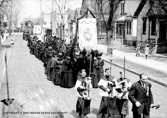 Polish Funeral Detroit 1890s