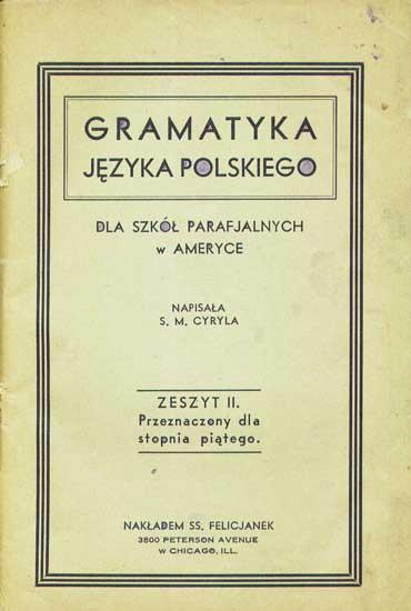 Felician Sisters Polish Grammar 1933
