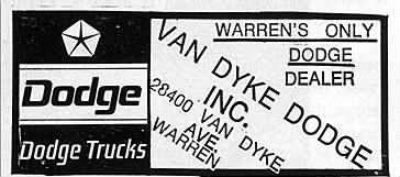 Van Dyke Dodge
