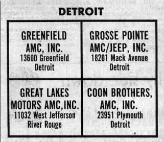 Detroit AMC Dealers