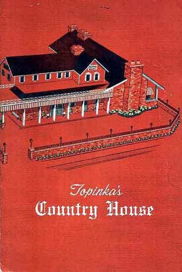 Topinka's Country House menu