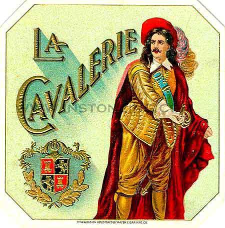 Mazer Cigar Cavalerie label