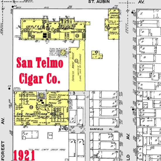 San Telmo Cigar Co 1921