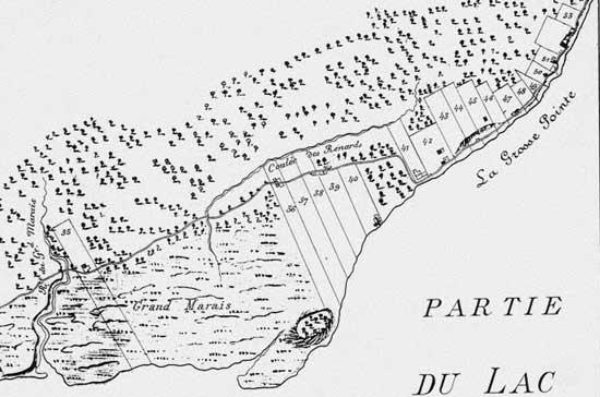 1796 map Grand Marais